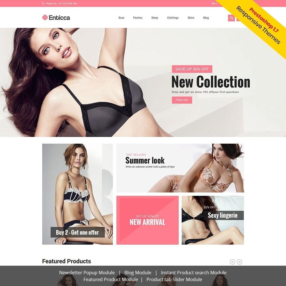 theme - Lingerie & Adult - Entica - Fashion Lingerie Store - 1