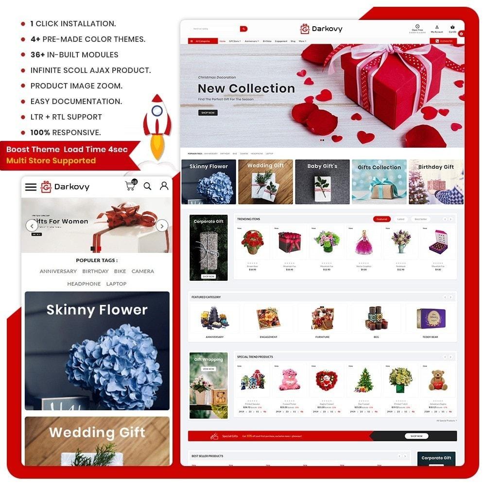 theme - Подарки, Цветы и праздничные товары - Darkovy Gift - The Gift Shop - 1