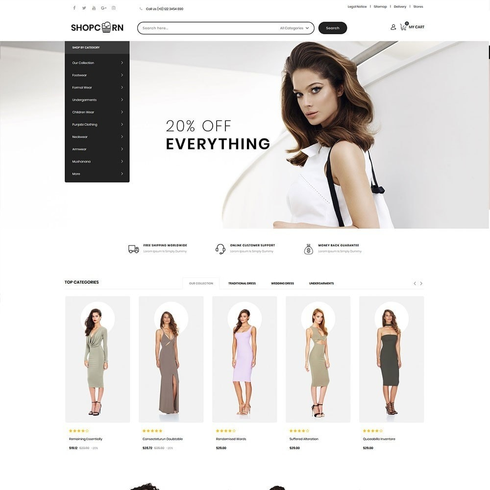 theme - Fashion & Shoes - Shopcorn - The fashion Store - 2