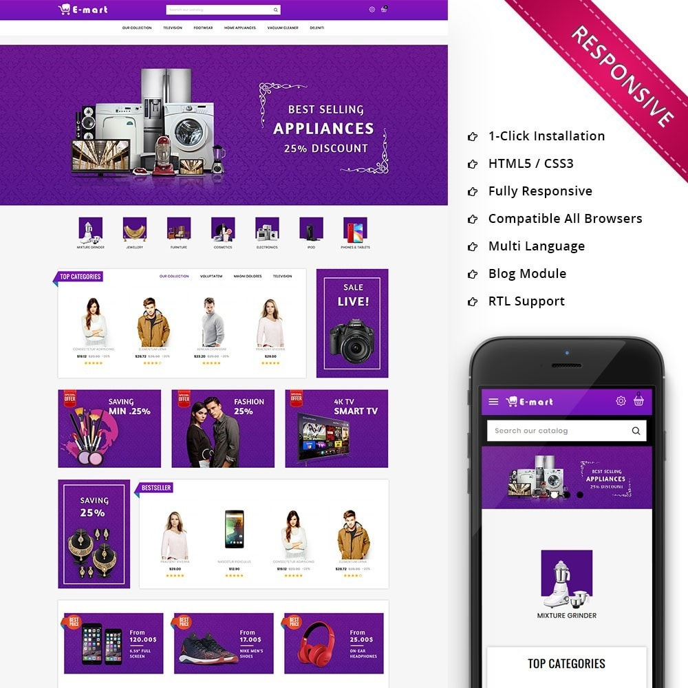 theme - Fashion & Shoes - Emart - The Mega Store - 1