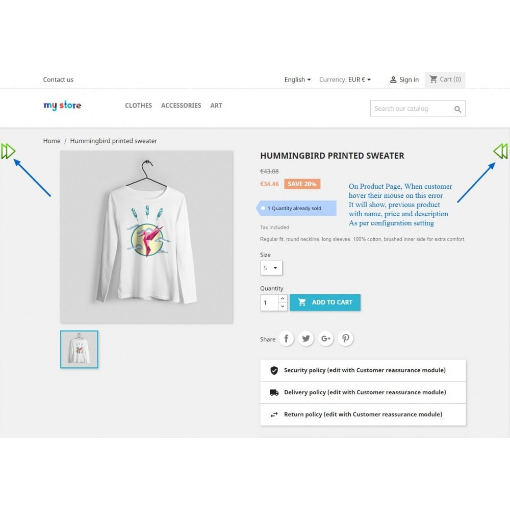 module - Navigation Tools - Navigation Previous & Next Arrow On Product Page - 4