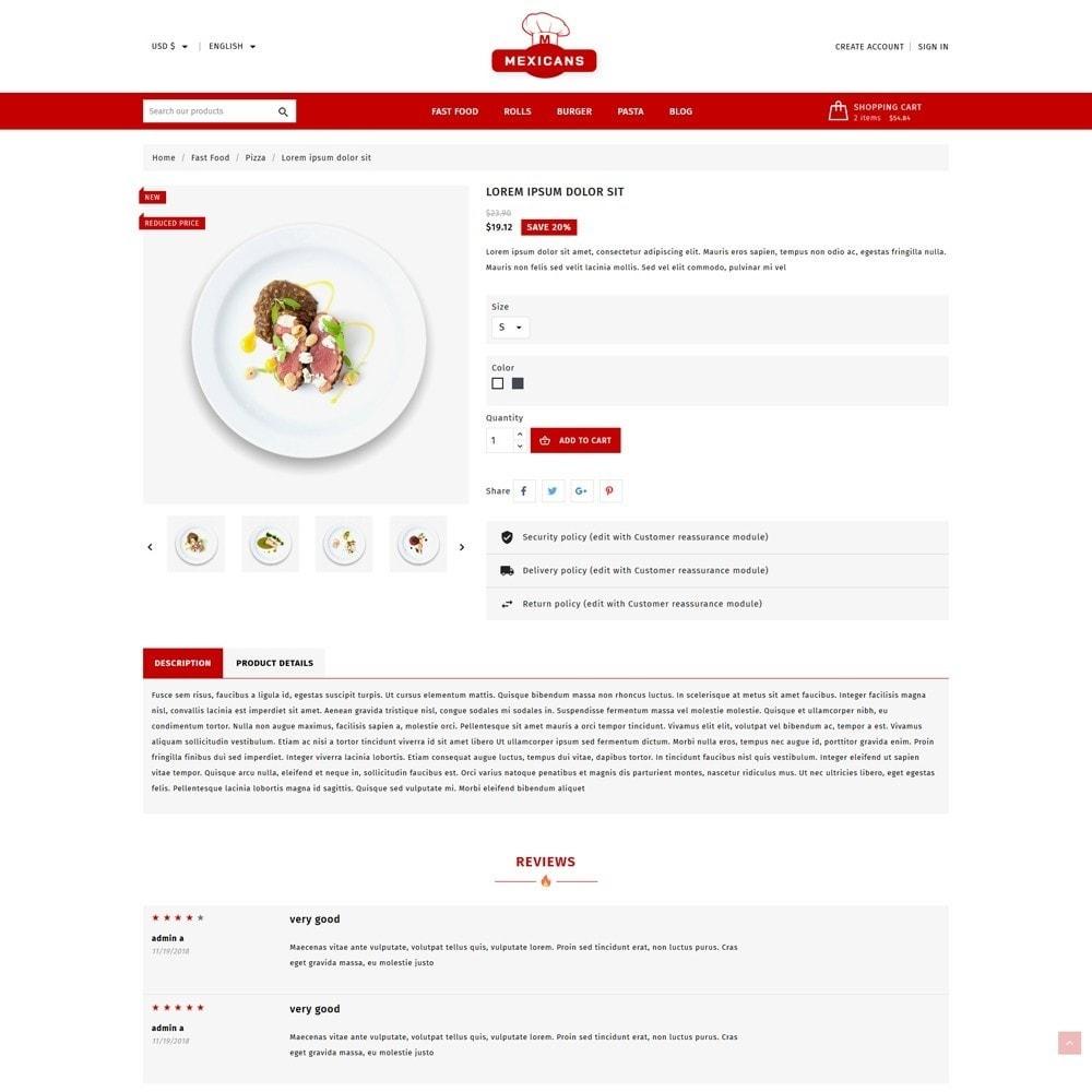 theme - Food & Restaurant - Maxicans Food - 5