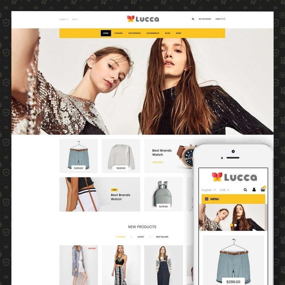 theme - Мода и обувь - Lucca - Apparel store - 1