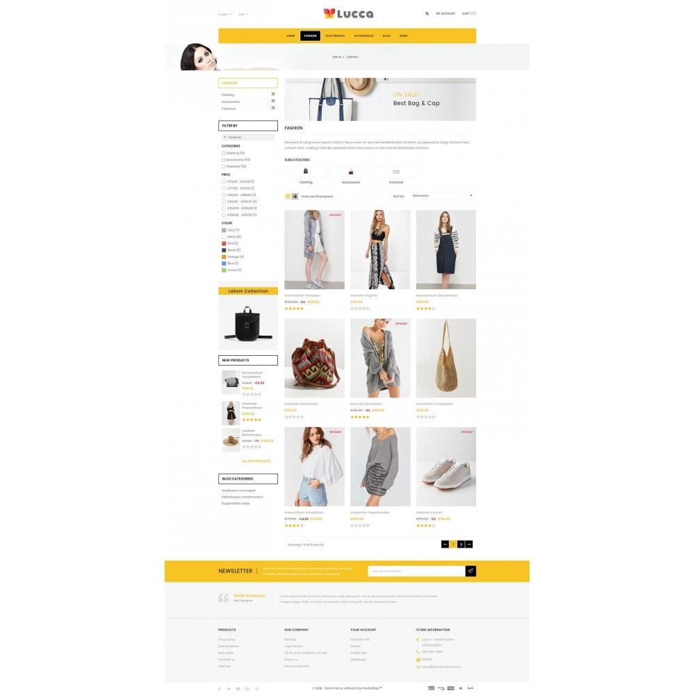 theme - Мода и обувь - Lucca - Apparel store - 3