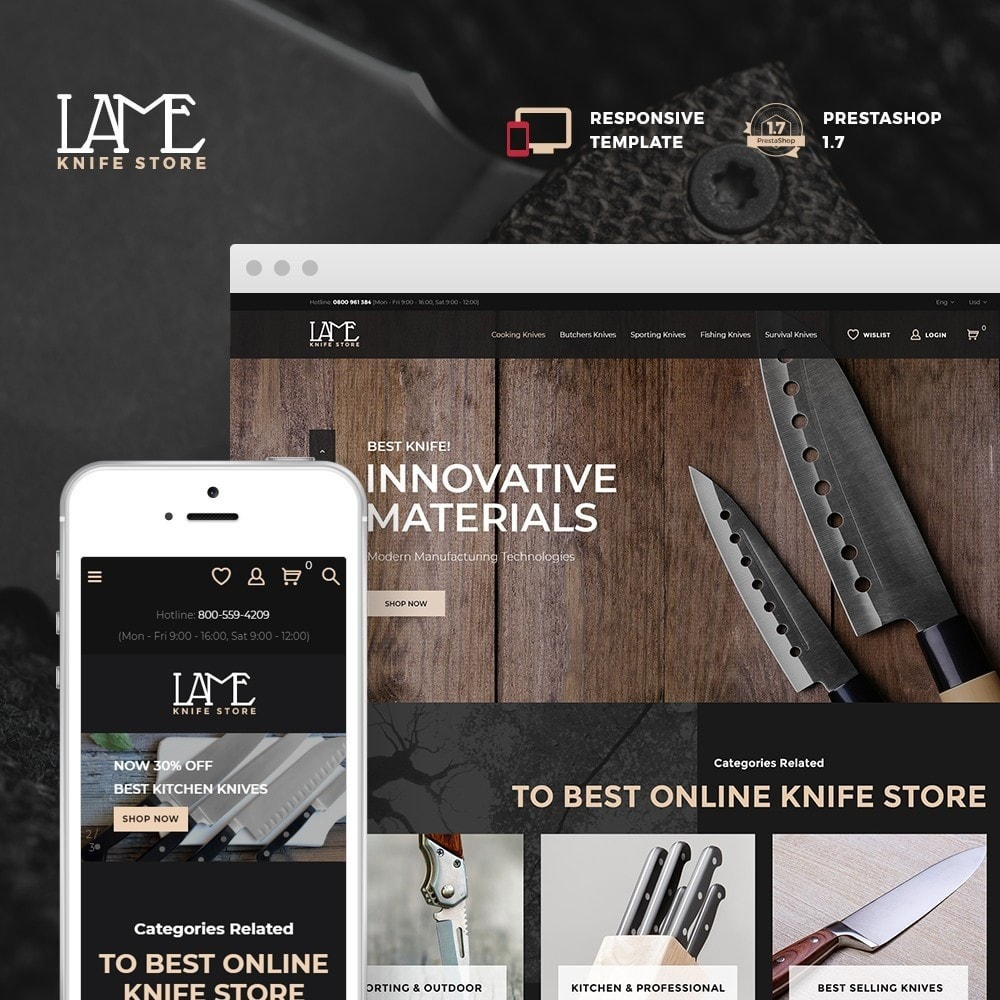 theme - Casa & Jardins - LAME - Knife Store - 1