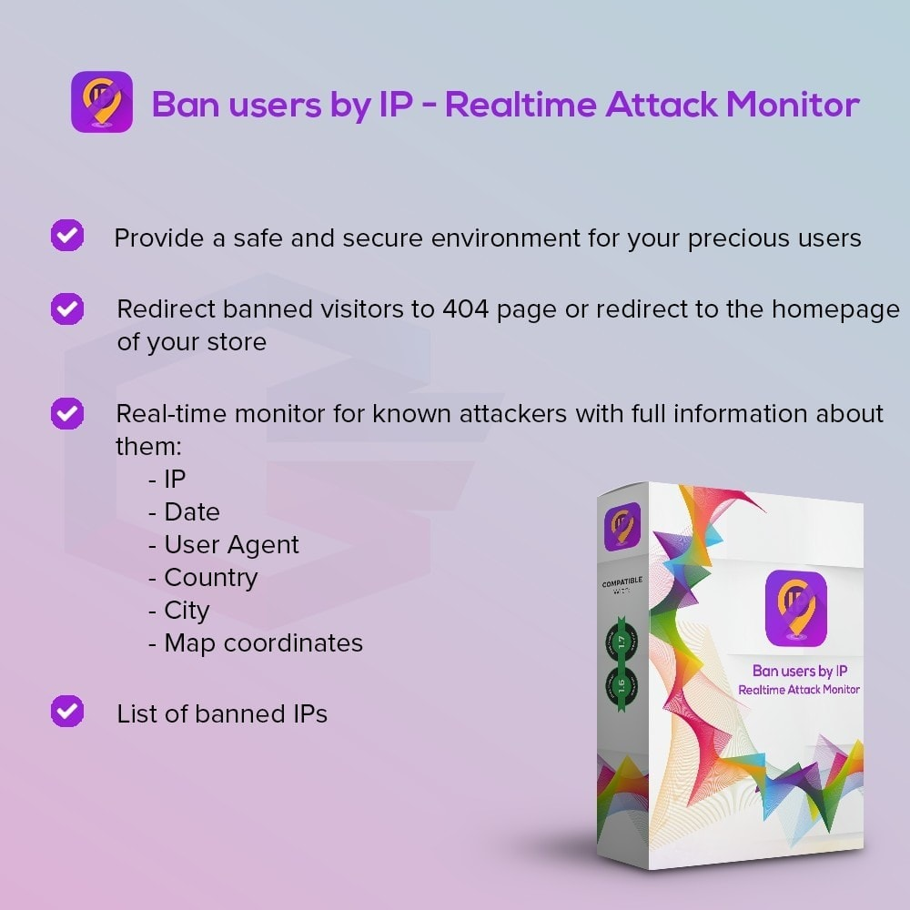 module - Безопасности и доступа - Ban users by IP - Realtime Attack Monitor - 1