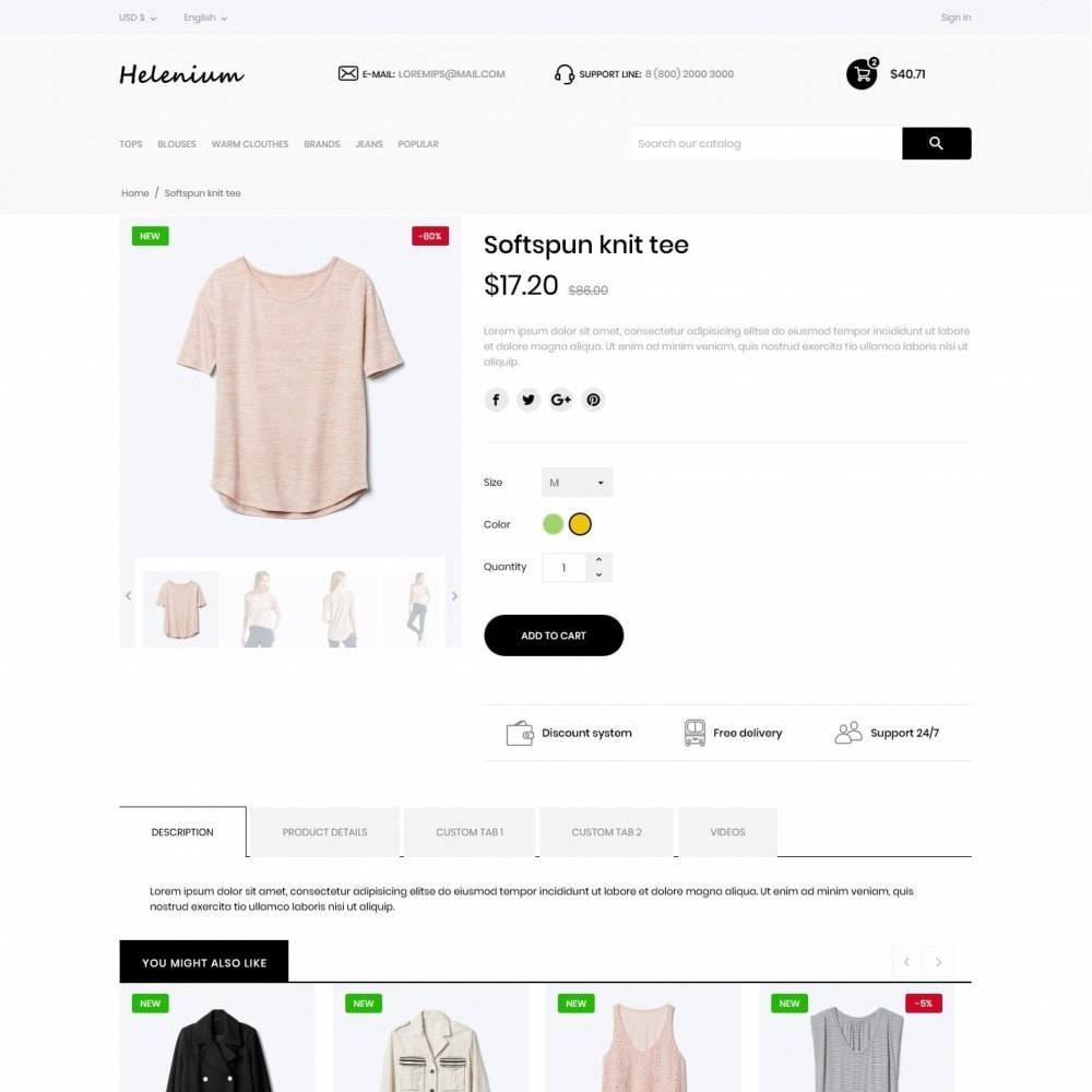 theme - Fashion & Shoes - Helenium Fashion Store - 6
