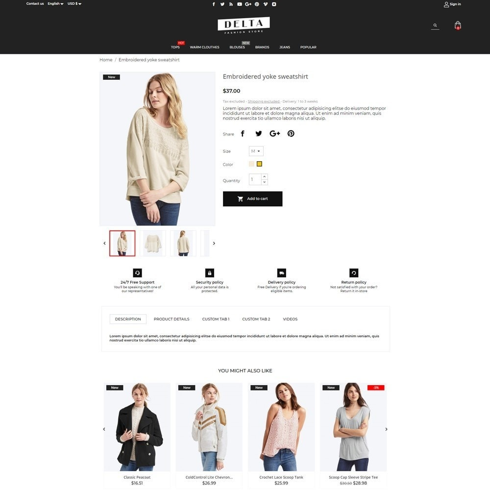 theme - Mode & Chaussures - Delta Fashion Store - 13