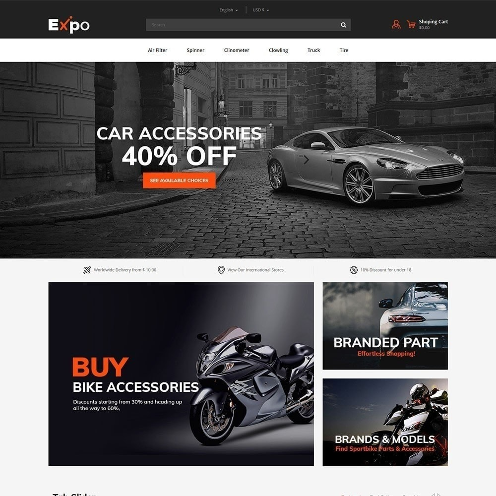 theme - Carros & Motos - Ferramenta - Auto Store - 3