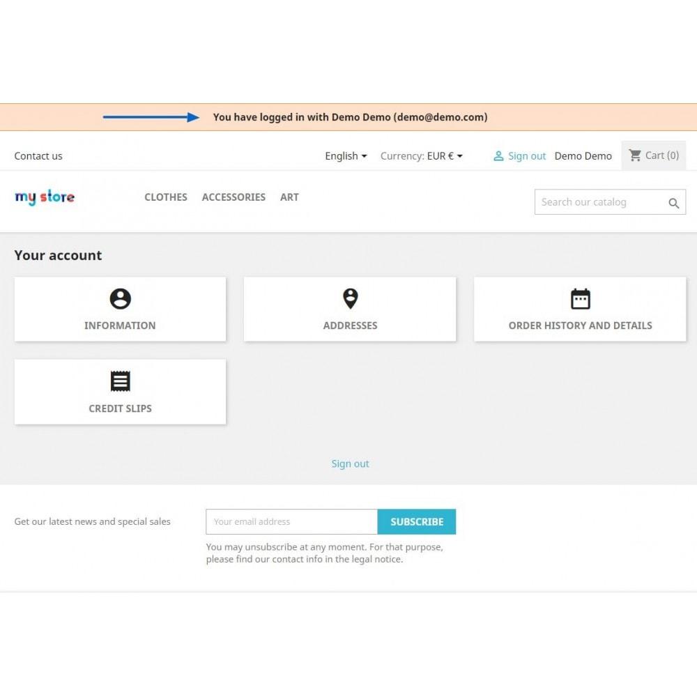 module - Segurança & Acesso - Login To Customer Account Without Password - 4
