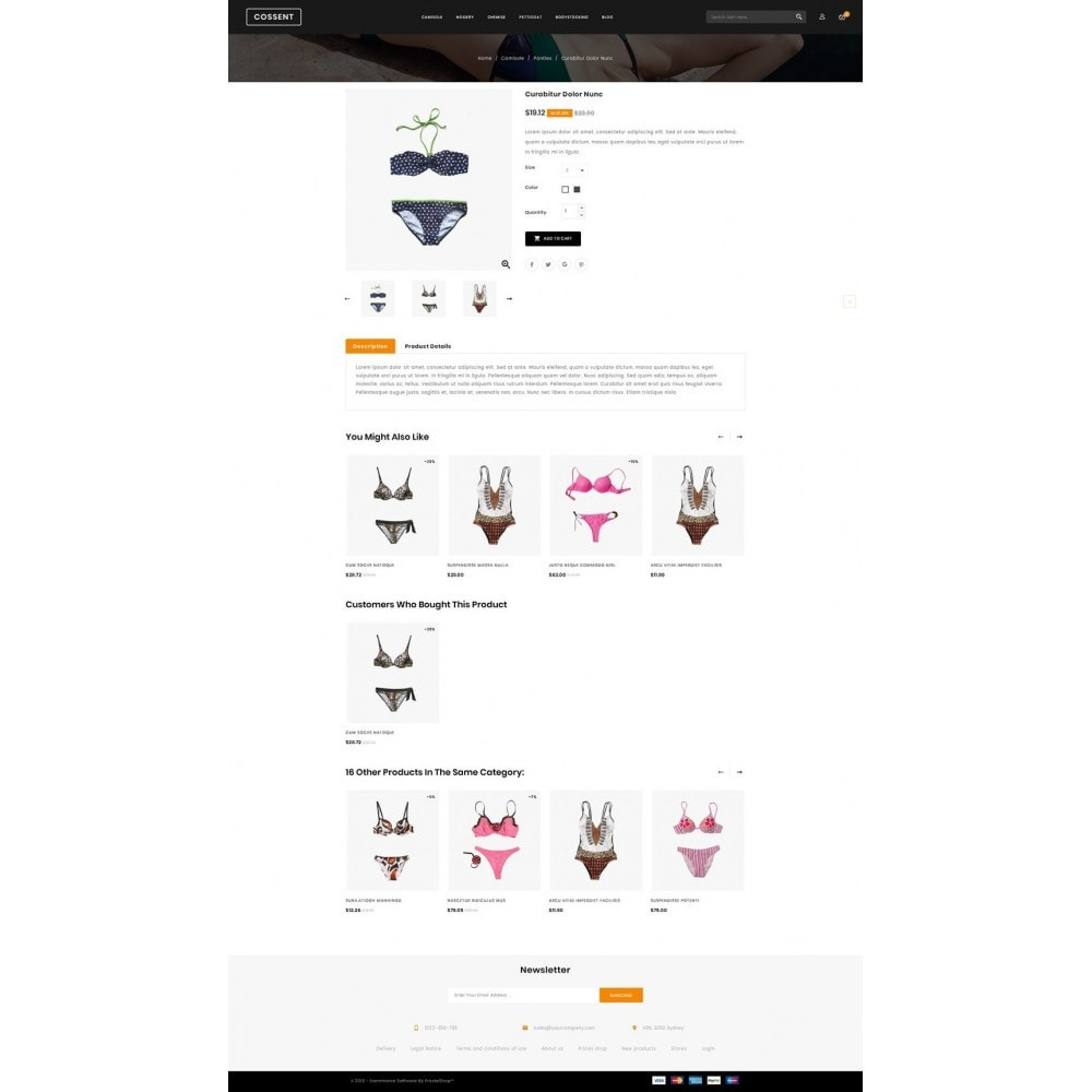 theme - Lingerie & Volwassenen - Cossent - Lingeries Shop - 4