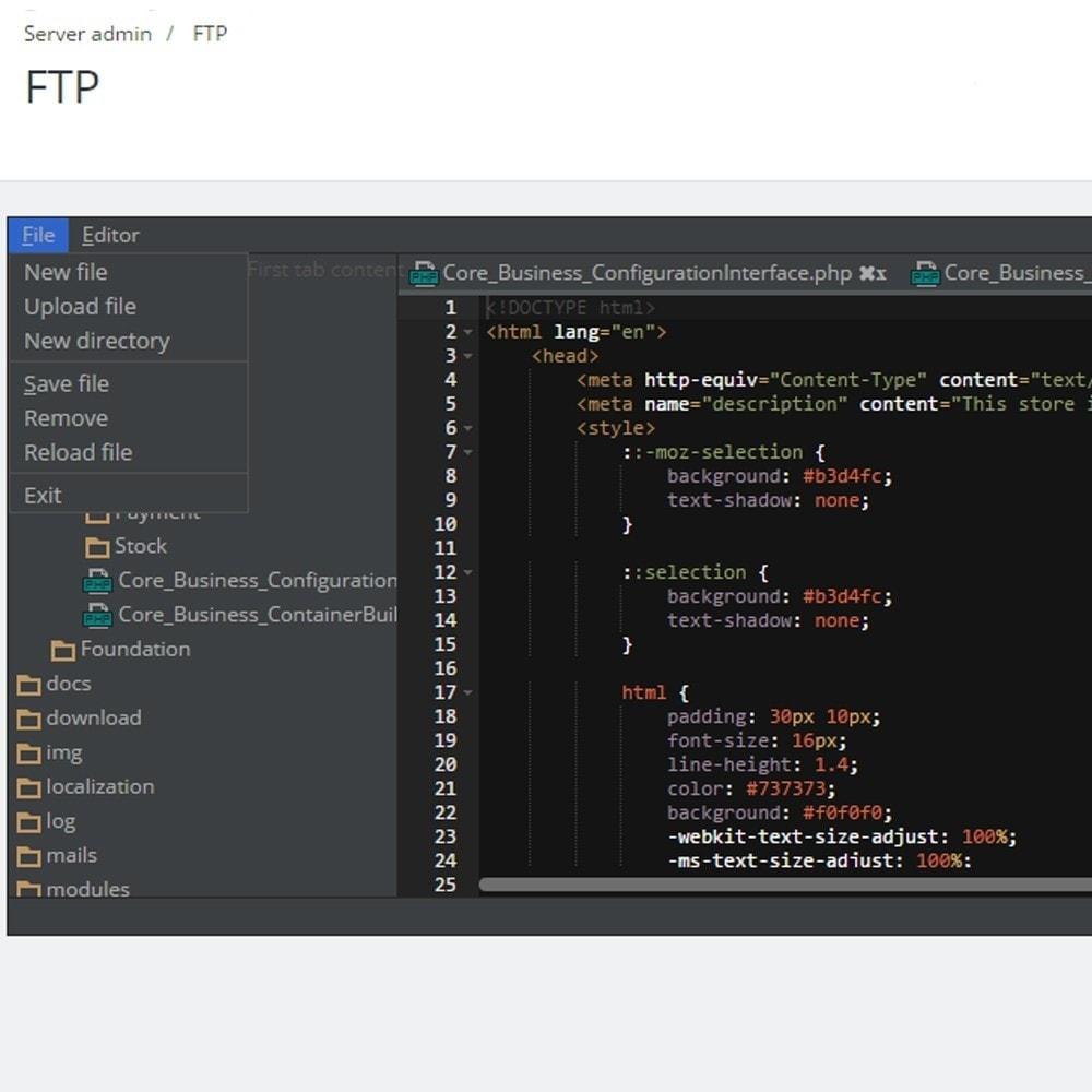 module - Инструменты администрирования - FTP редактор в админ панели - 3