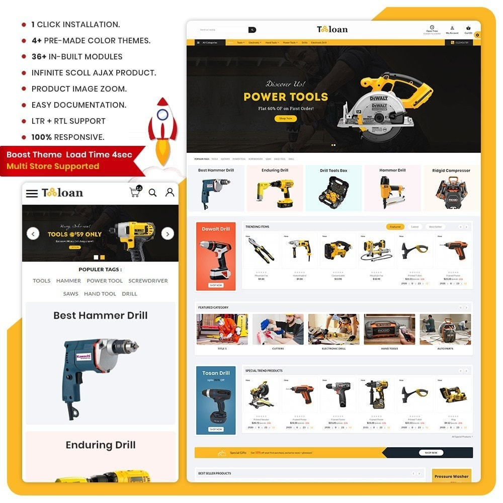 theme - Automotive & Cars - Toloan Outils– The Big Tools Big Store - 1