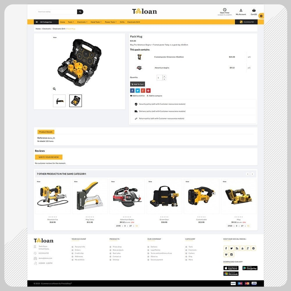 theme - Automotive & Cars - Toloan Outils– The Big Tools Big Store - 4