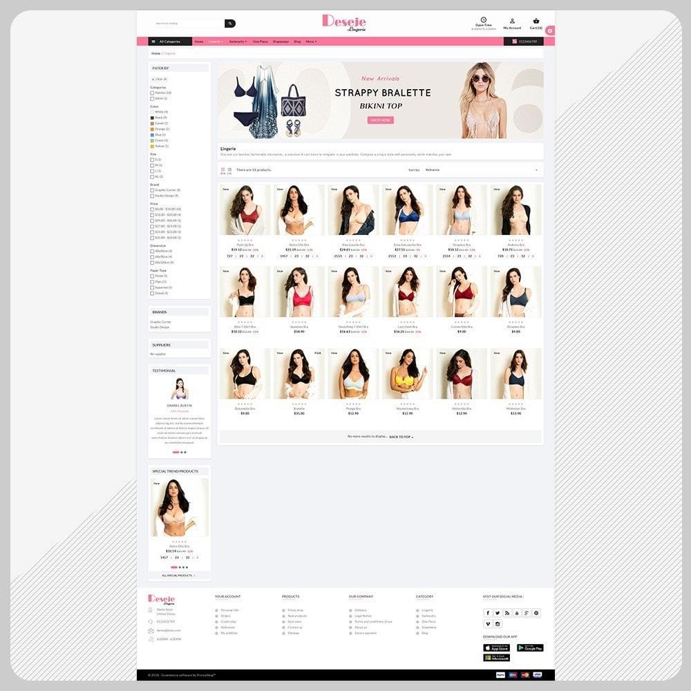 theme - Lingerie & Adulte - Deseje New Bikini – New Bikini Shop - 3