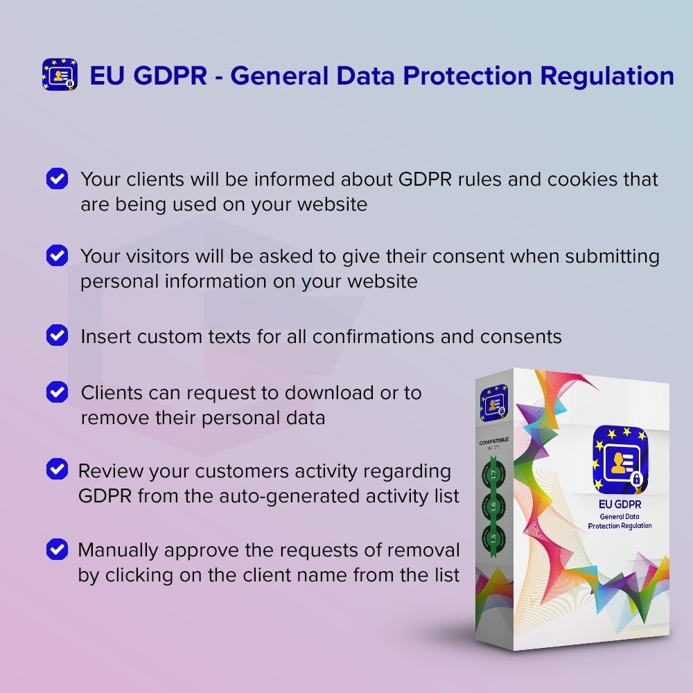 module - Juridisch - EU GDPR - General Data Protection Regulation - 1
