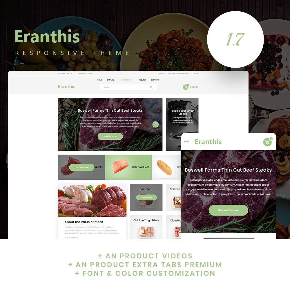 theme - Food & Restaurant - Eranthis - 1