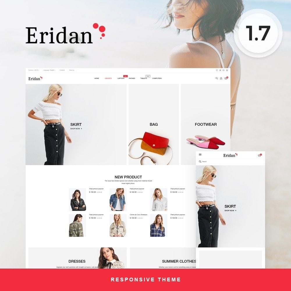 theme - Fashion & Shoes - Eridan Fashion Store - 1