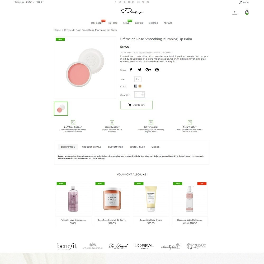 theme - Health & Beauty - Daisy Cosmetics - 5
