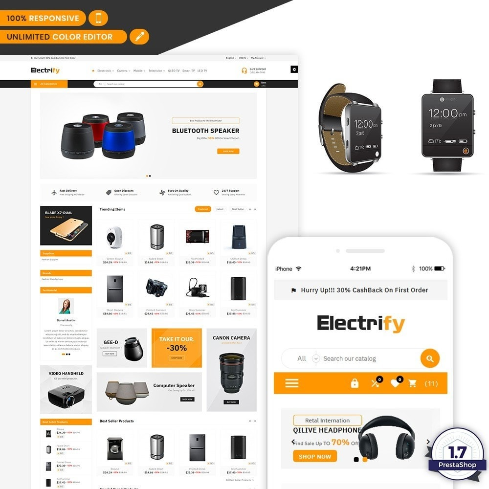 theme - Electronics & Computers - Electrify - Electronic Mega Mart - 1