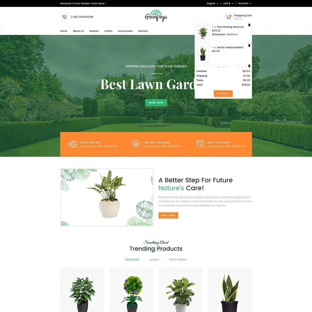 theme - Home & Garden - Greenfreys Garden Store - 2