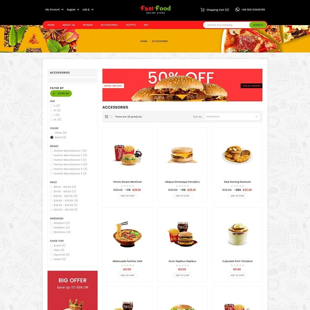 theme - Food & Restaurant - Fast Food Store - 3
