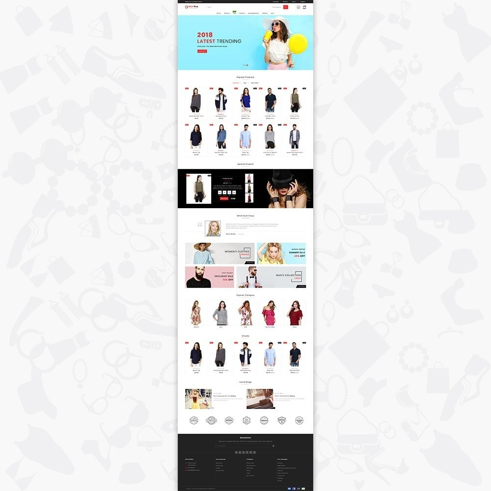 theme - Fashion & Shoes - GlamShop - The Fashion Shop - 2