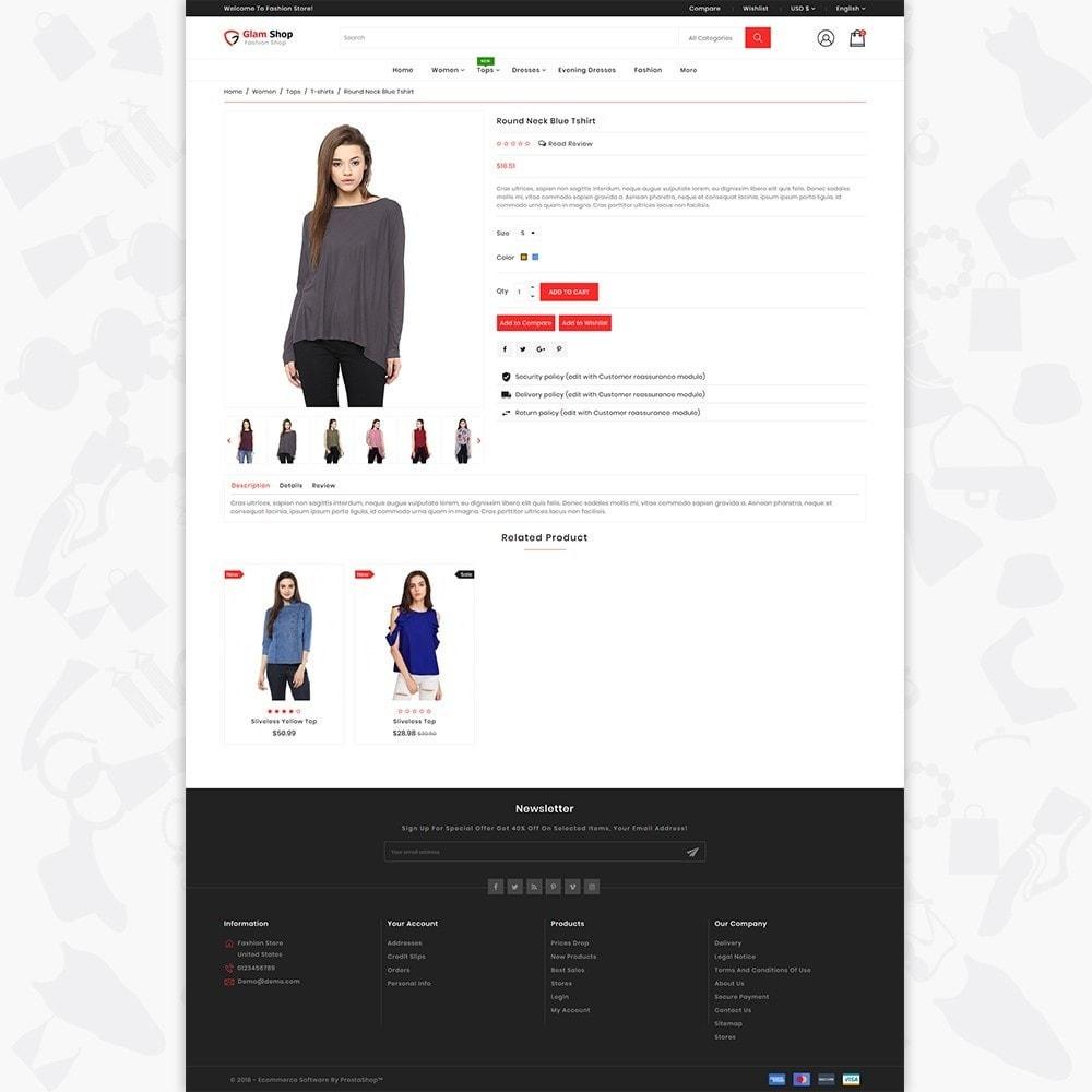 theme - Fashion & Shoes - GlamShop - The Fashion Shop - 5