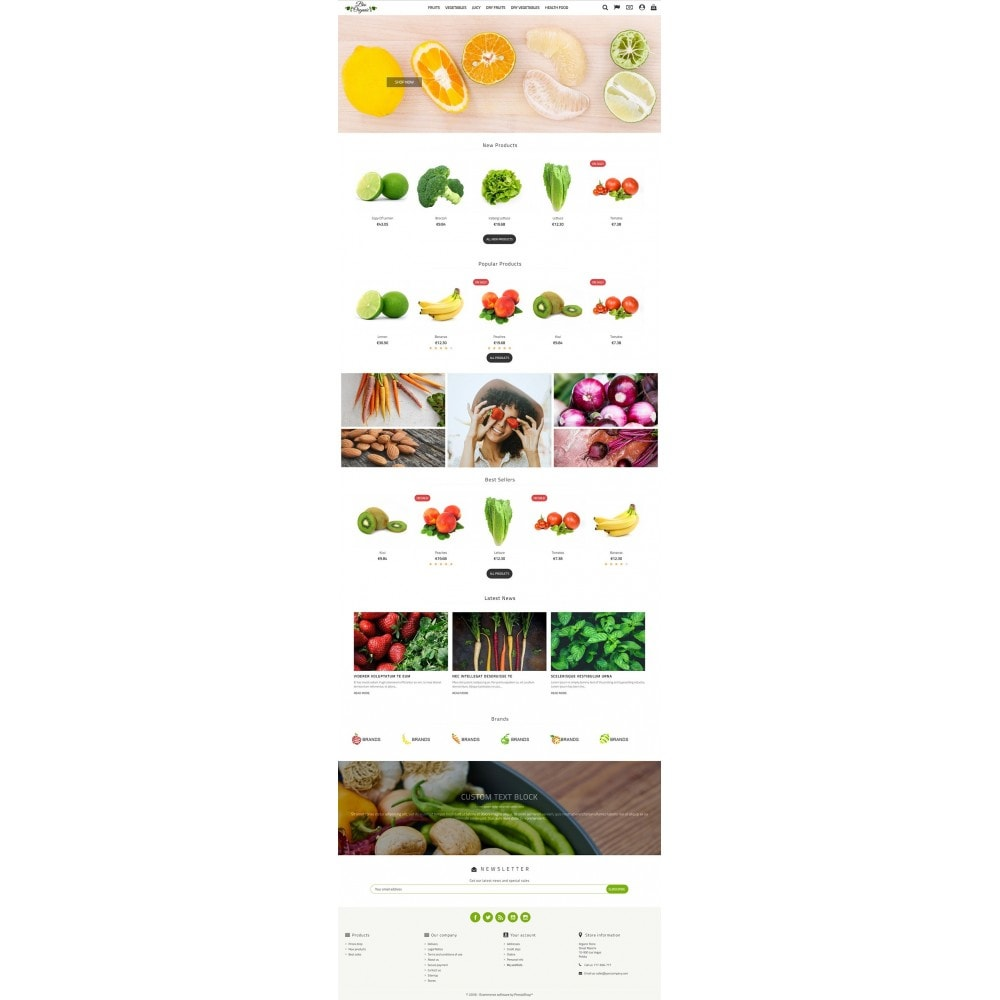 theme - Food & Restaurant - Bio Organic Store - 2