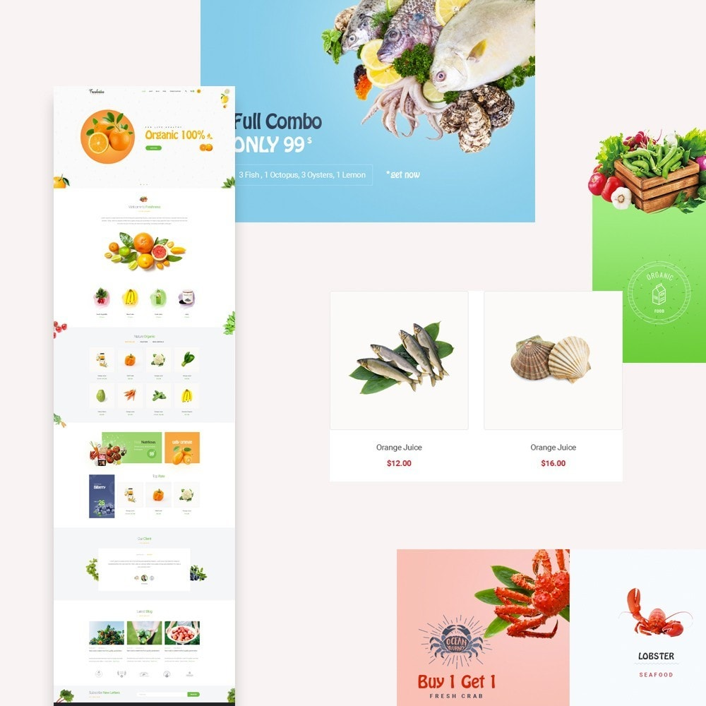 theme - Food & Restaurant - Bos Freshness Fruits Store - 1