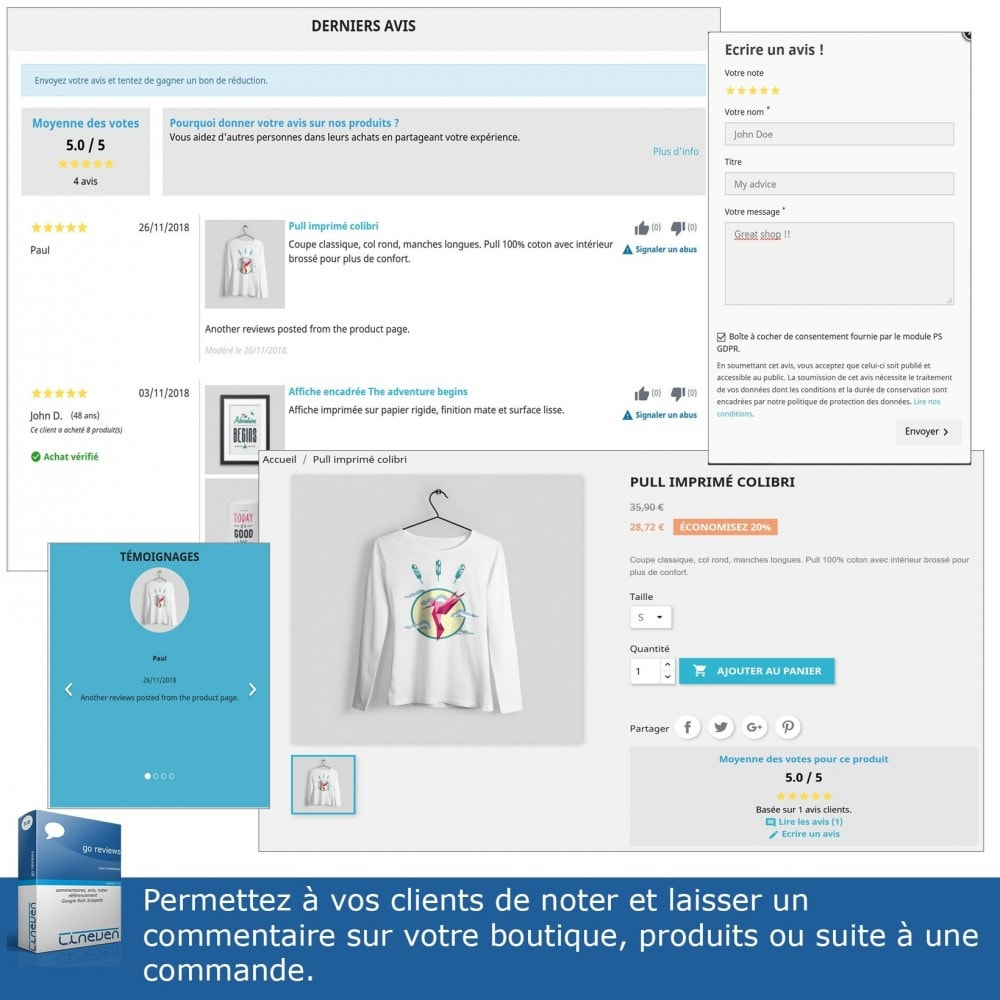 module - Avis clients - Commentaires, avis, notes, SEO et Google Rich Snippets - 3
