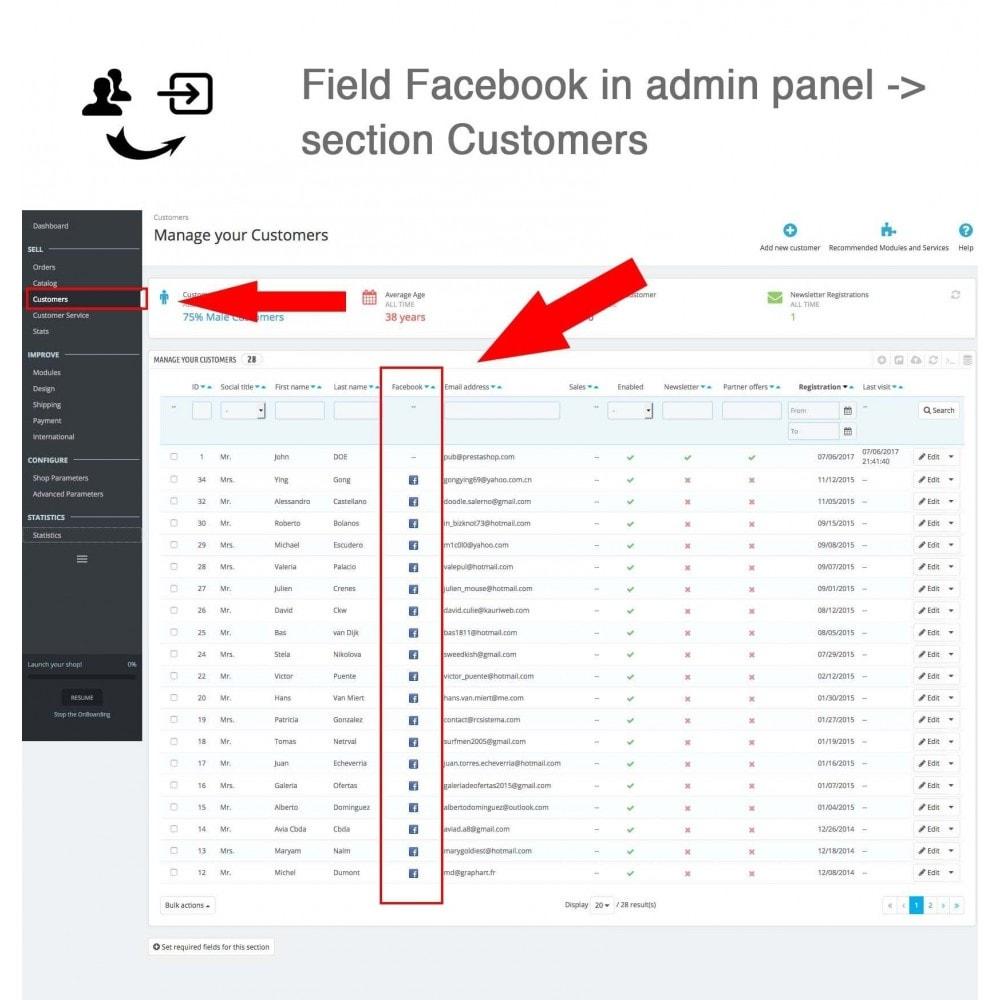 module - Módulos de Botões de Login & Connect - Social Connect + Statistics - 8