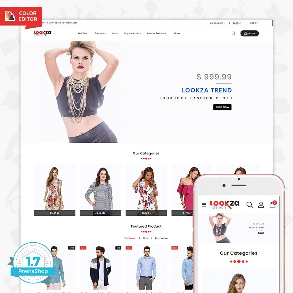 theme - Fashion & Shoes - LookZa - The Fashion Shop - 1