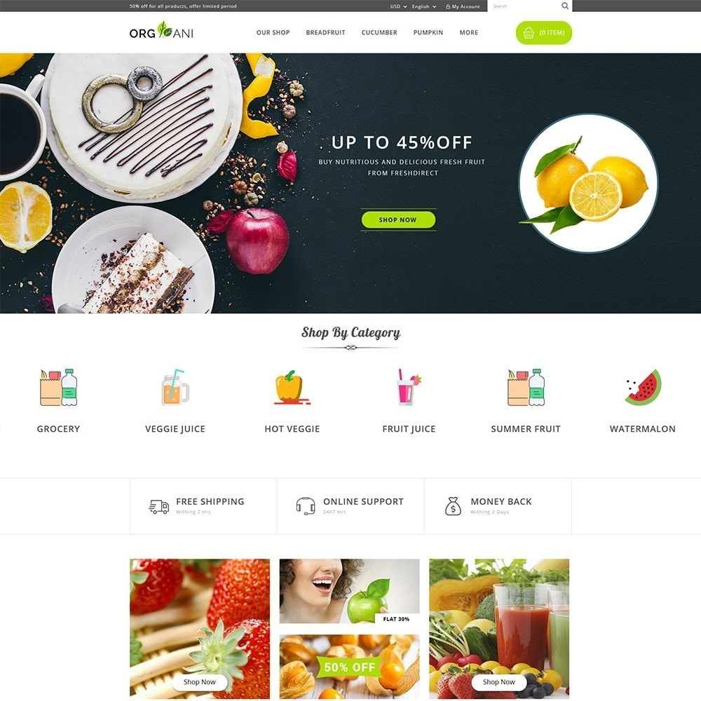 theme - Food & Restaurant - Organi - The Retailer Shop - 2