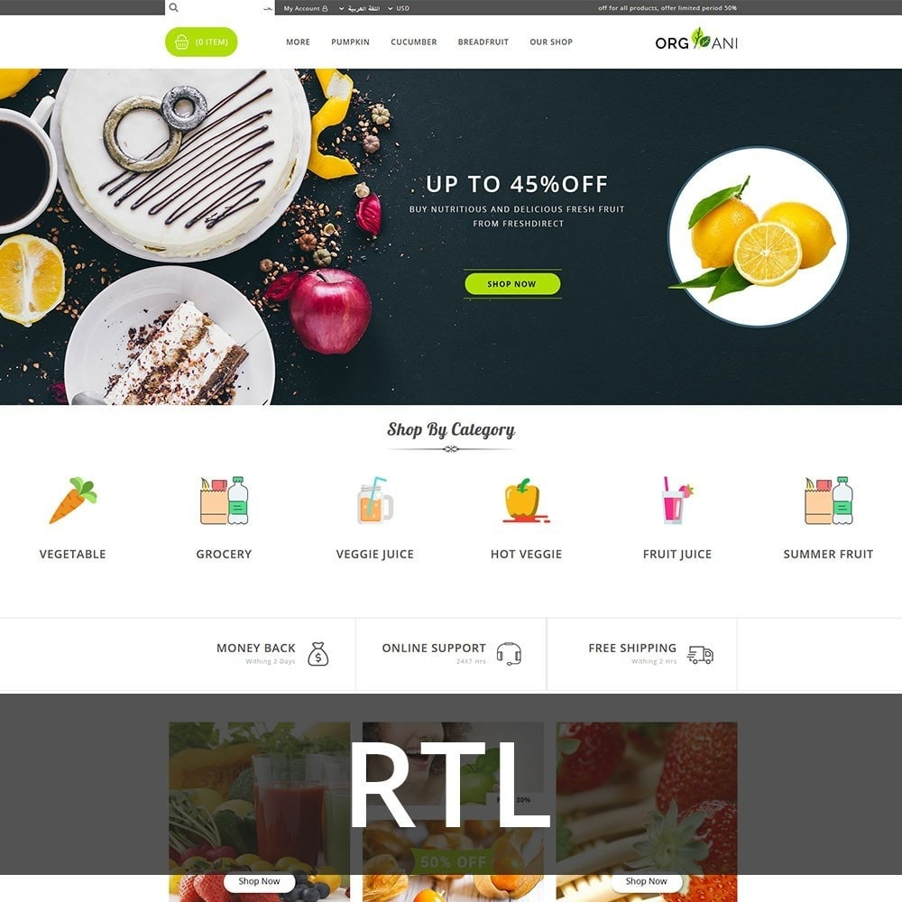 theme - Продовольствие и рестораны - Organi - The Retailer Shop - 3