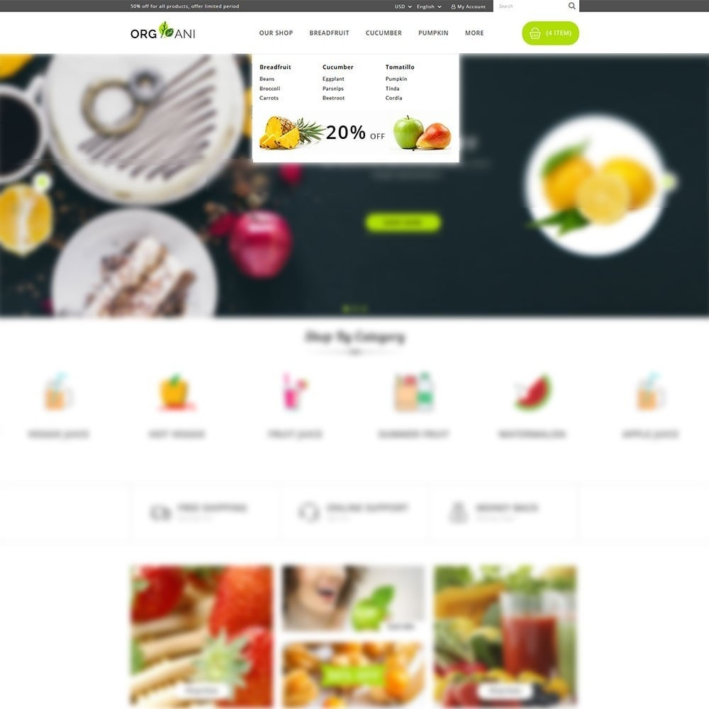 theme - Продовольствие и рестораны - Organi - The Retailer Shop - 8