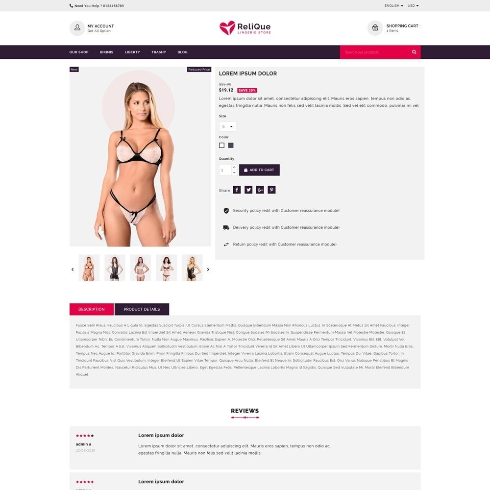 theme - Lingerie & Adultos - Relique Lingerie & Adult Shop - 5