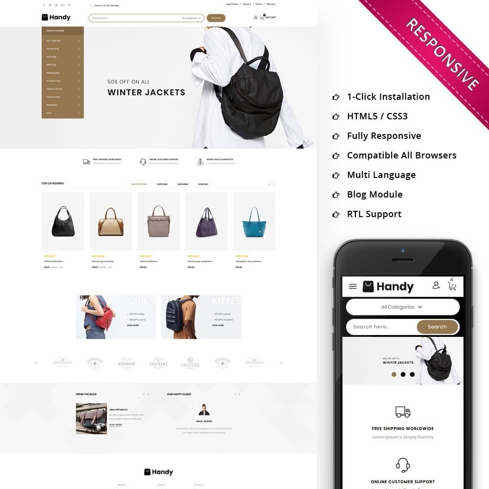 theme - Moda & Calçados - Handy Bag - The Bag Store - 1