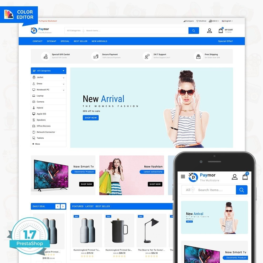 theme - Electronique & High Tech - PayMore - The Mega Ecommerce Store - 1