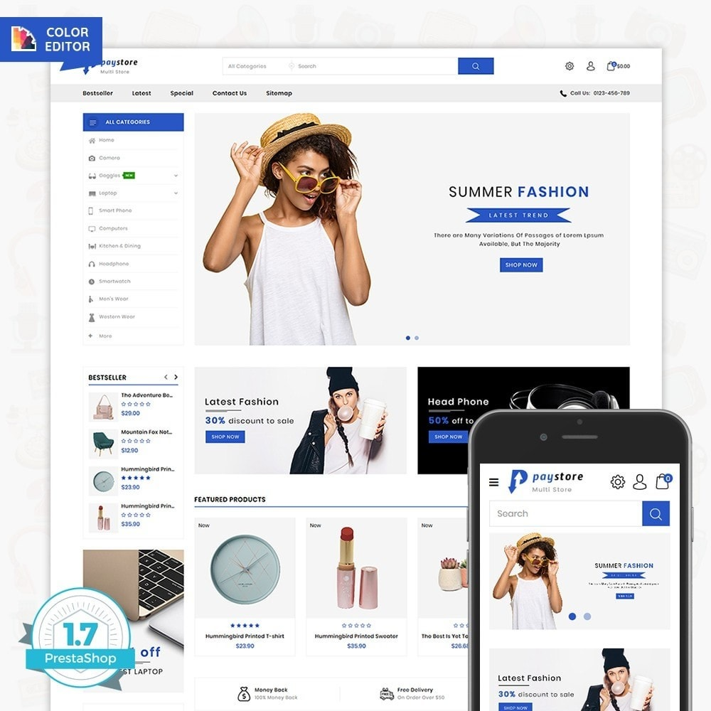 theme - Eletrônicos & High Tech - PayStore - The Mega Ecommerce Store - 1