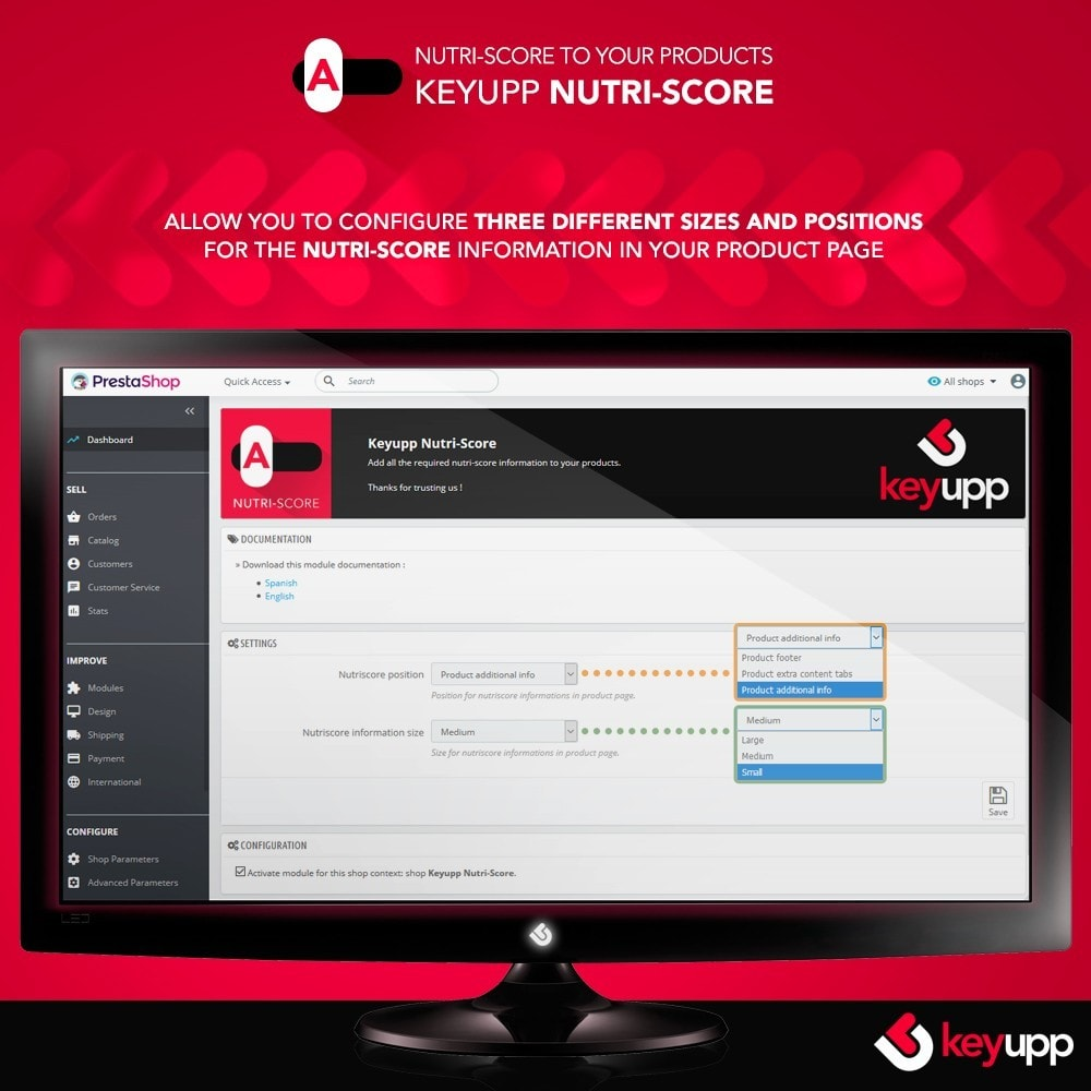 module - Eten & Restaurant - Nutri-Score iconography for products - 2