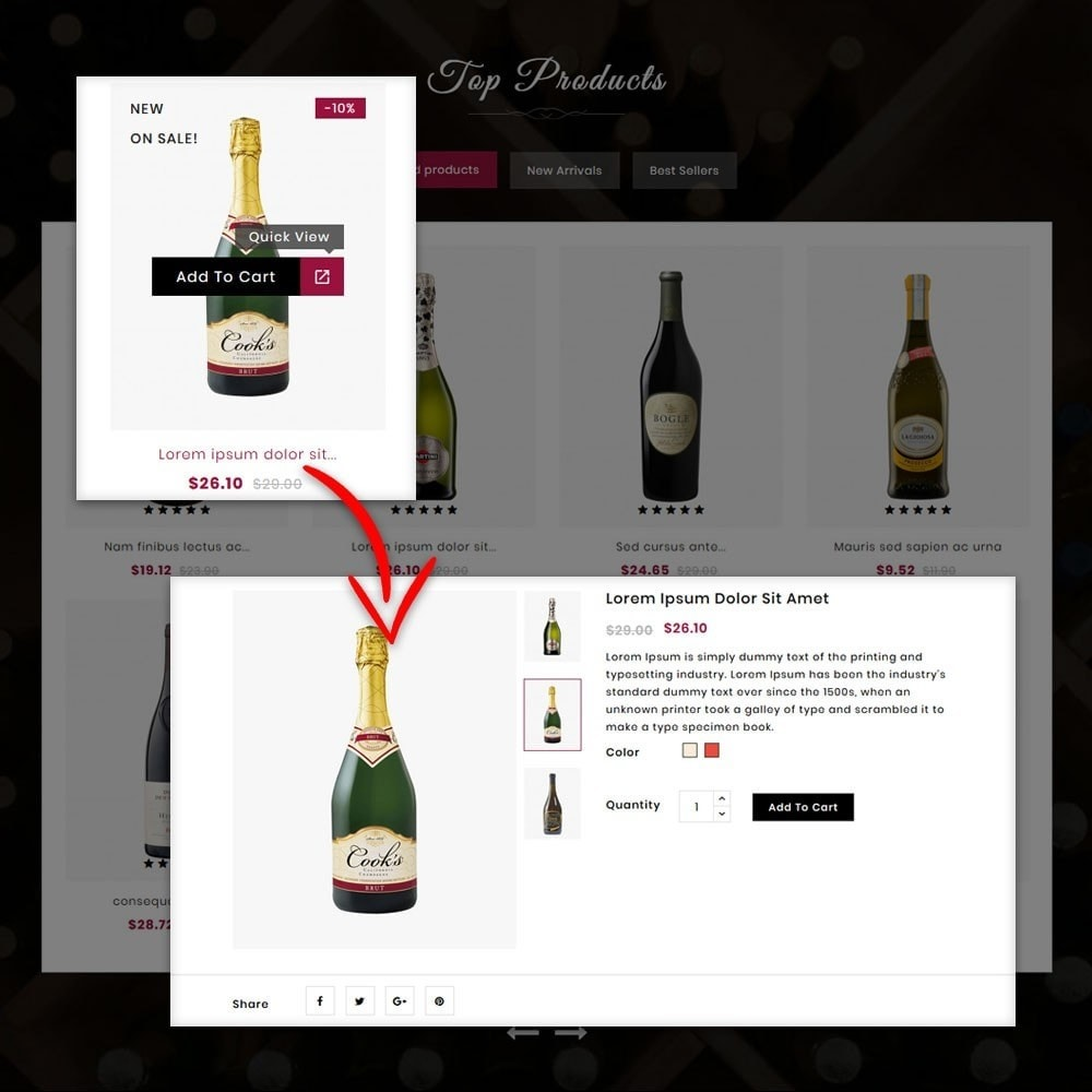 theme - Drink & Tobacco - Provino Wine Store - 6