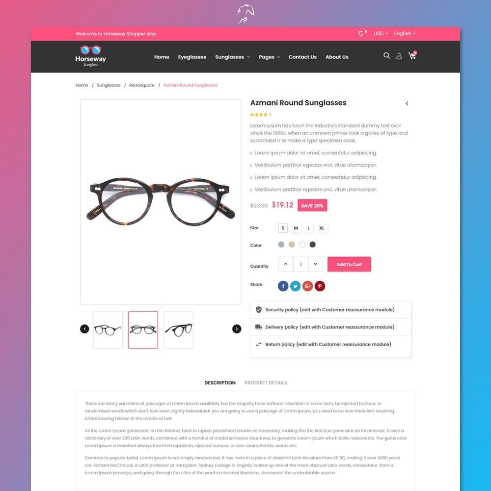 theme - Fashion & Shoes - Horseway Sunglass Ecommerce Shop - 5