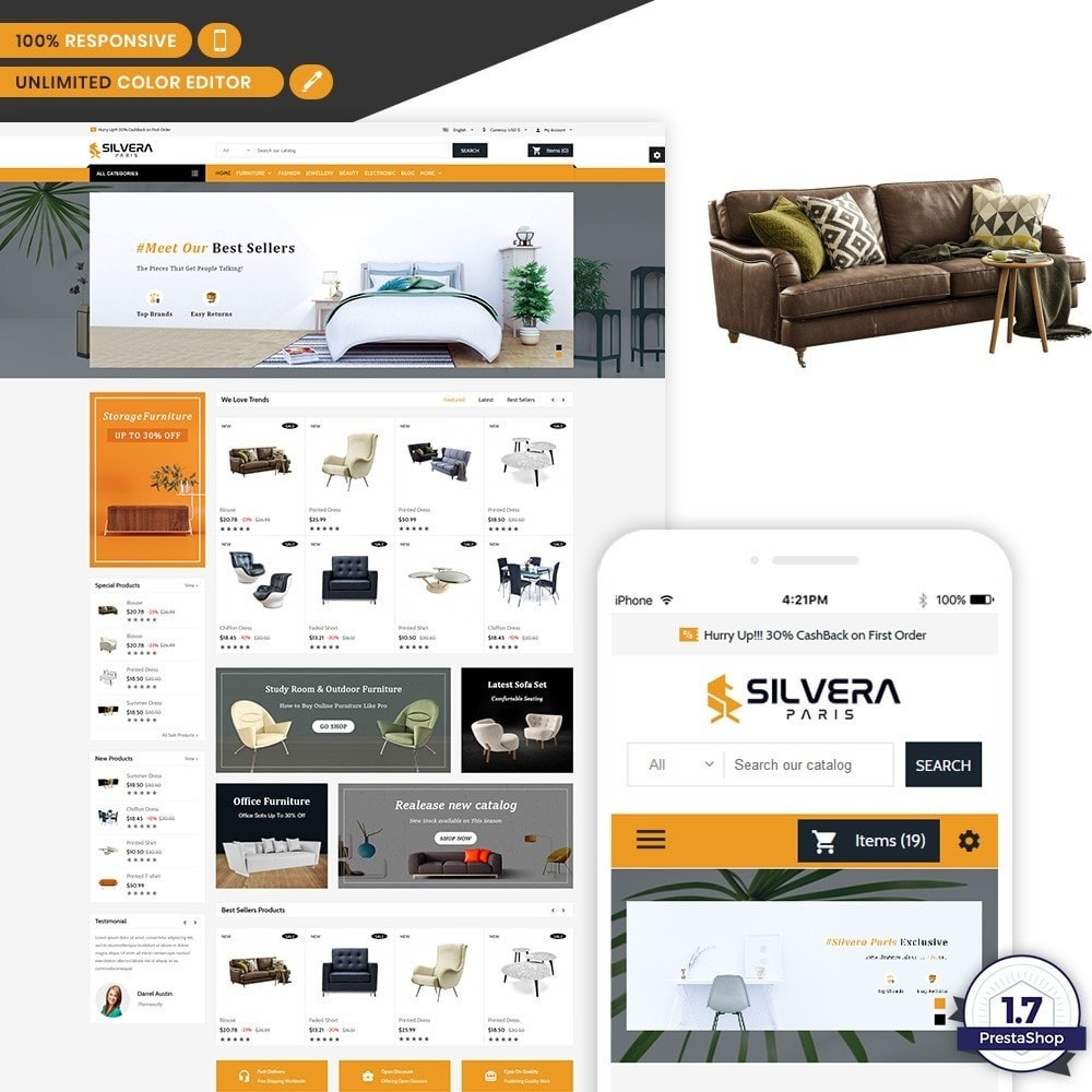 theme - Eletrônicos & High Tech - Silvera - Moden Furniture Store - 1