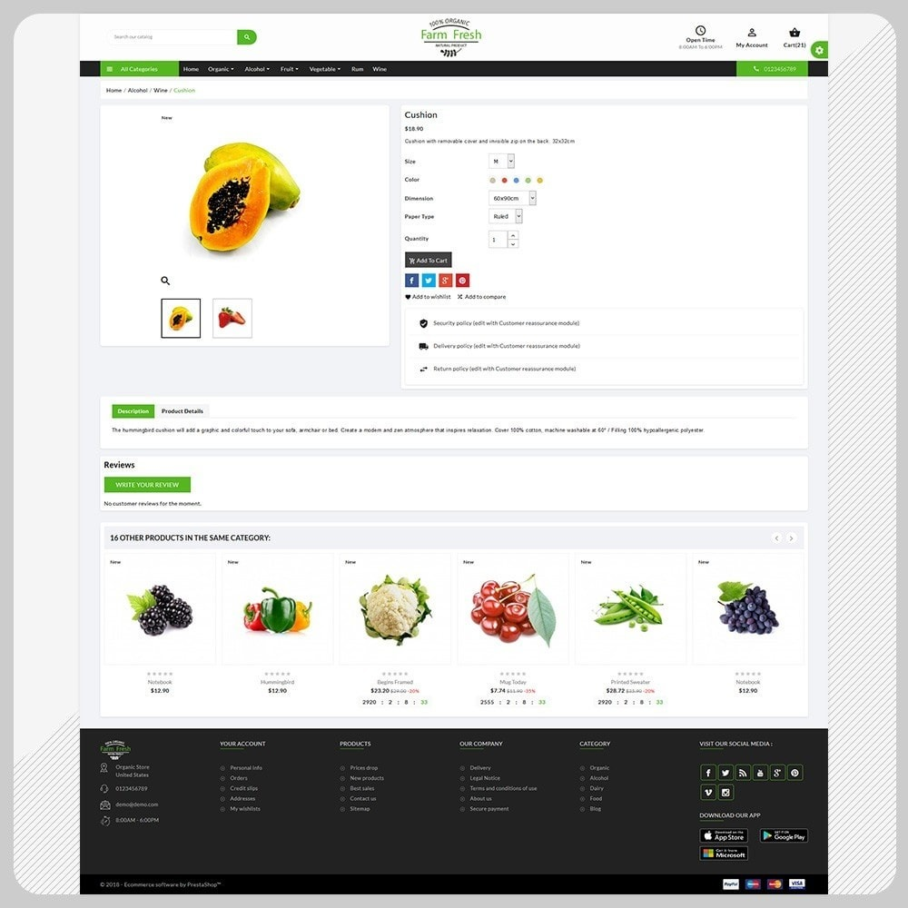 Biologique – The Fresh Organic Store Template