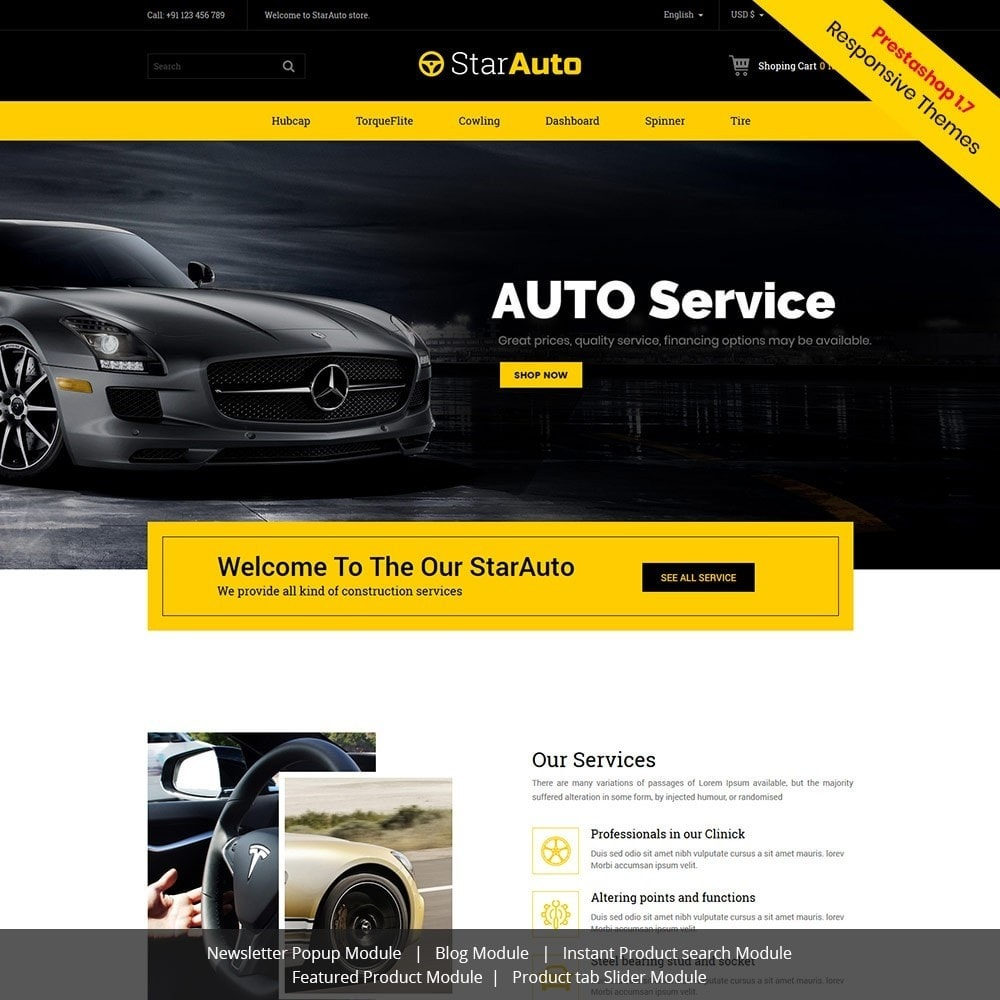 theme - Automotive & Cars - Auto - Car Tool Store - 1