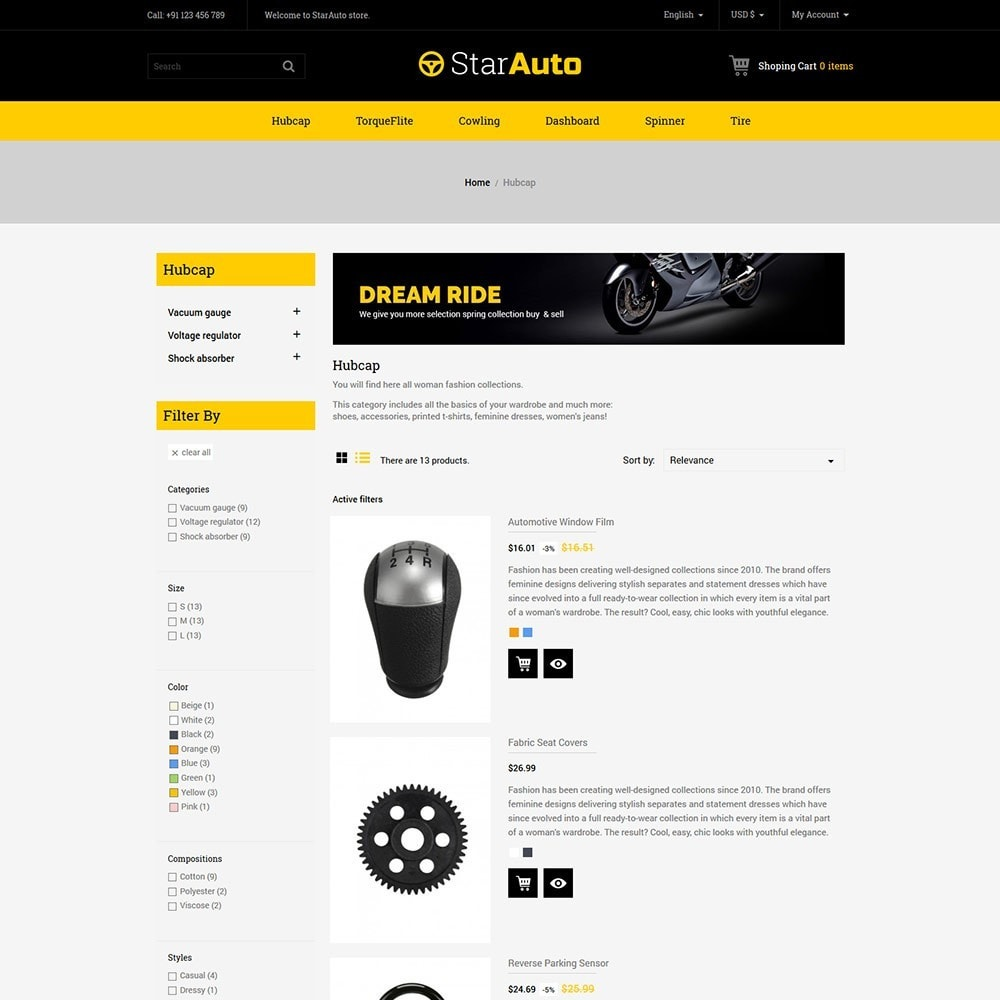 theme - Carros & Motos - Auto - Car Tool Store - 5