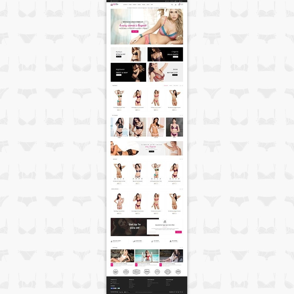 theme - Lenceria y Adultos - PinkBra - The Lingerie store - 2