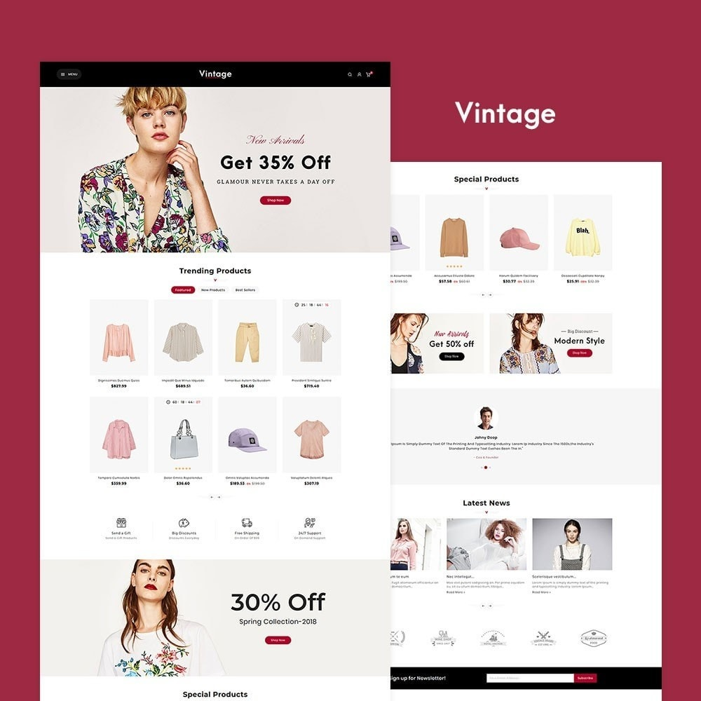 theme - Moda & Calzature - Vintage Fashion Apparels - 2