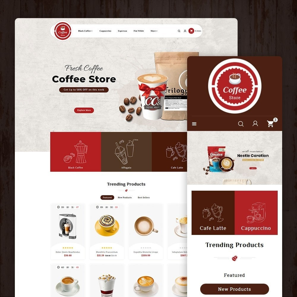 theme - Bebidas y Tabaco - Coffee & Drinks Store - 1